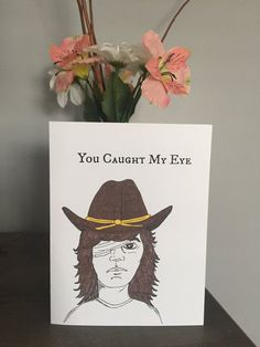 Funny The Walking Dead Carl Card for Your Valentine by SiyoCards