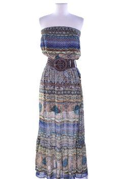Royal Boho Chic Maxi Dress