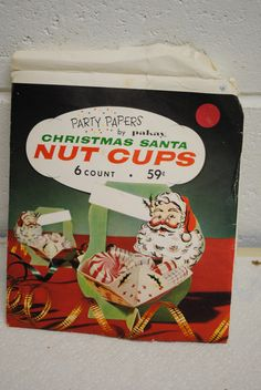 vintage Christmas Santa nut cups by Pakay party papers never used | eBay