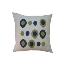 Eggs Applique Pillow in Navy and Green