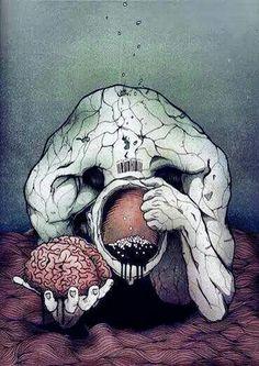 Project: Human Disorder by Thomas Overloop Satirical Illustrations, Mobile Art, Political Art, Arte Horror, Visual Diary, Psychedelic Art, Vaporwave, Urban Art, Dark Art