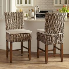 best choice products set of 2 hand woven seagrass bar stools