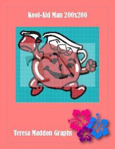 Name: 'Crocheting : Kool-Aid Man Kool Aid Man, Plastic Canvas, Handmade Crafts, Crocheting, Cross Stitch, Knitting, Pattern, Gifts, Crochet