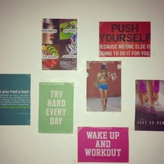 Motivational wall! Need this. Running corner Motivation Wall, Fitness Motivation, S Curves, Fit Board Workouts, Fitspiration, Just Go, Inspire Me, Corner, Running
