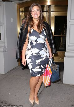 Out and about! Ashley Graham looked gorgeous as ever as she left an event at the Pierre ho...