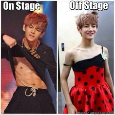 "I'm here sitting like ""V had abs?!"" And I didn't know..."