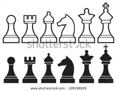 chess pieces including king, queen, rook, pawn, knight, and bishop (chess icons, set of chess pieces, chess figures) - stock photohttp://www.shutterstock.com/pic-128198918/stock-photo-chess-pieces-including-king-queen-rook-pawn-knight-and-bishop-chess-icons-set-of-chess.html