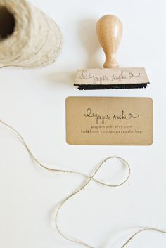 "Love this: Business Card Stamp - Custom 2 3/4"" Business Card or Etsy Shop Stamp for business cards and shop packaging"