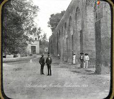 Fotos de Morelia, Michoacán, México: Acueducto hacia 1900
