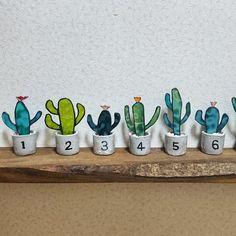 サボテンのオブジェ #サボテン #オブジェ #ステンドグラス #陶器 #ハンドメイド #craft #handmade #stainedglass #pottery #ceramic #cactuses #cactus #objects