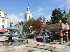 Hundertwasserbrunnen Zwettl-NÖ Austria, Taj Mahal, Building, Travel, Fountain, Woodland Forest, Viajes, Buildings, Destinations