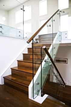 Glass Railing with Glass Standoffs from MOGG