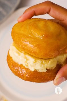 Enjoy a proudly South African dessert by learning how to make easy koeksisters and sandwiching it between our homemade custard ice cream recipe! These easy ice cream sandwiches are made with a no-churn custard ice cream recipe and the easy koeksister recipe is made with our hacky 2 ingredient dough recipe. Custard Ice Cream Recipe, Ice Cream Recipes, South African Desserts, Dough Recipe, Food Dishes, Sweet Recipes, Cravings, Sweet Tooth, Sandwiches