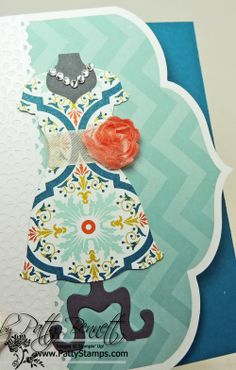 Meeting make & take project.. love the Dress Up framelit! using Stampin Up Dress Up Framelits