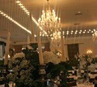 White wedding flowers in Durrow Castle.  www.lamberdebie.ie