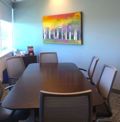 Meeting Room, Painting by Peter Colbert. Ottawa Art Gallery, Abstract Painters, Canadian Artists, Dining Table, Collections, Room, Painting, Furniture, Home Decor