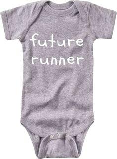 Future Runner Baby Bodysuit - White Lettering