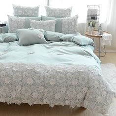 Cheap King Queen Size, Buy Quality Bedsheet Set Directly From China Queen  Size Suppliers: Embroidery Luxury Europe Morden Home Hotel Lace Bedding Set  Satain ...
