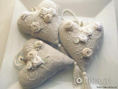 Текстильные сердечки. Большая коллекция очень красивых валентинок (11) (700x525, 223Kb)