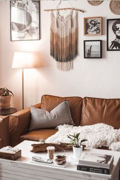 Affordable Hack To Transform Your Couch Into A Leather Sofa | Customize your living space with leather sofa covers, the perfect way to upgrade your living room and bring the whole space together. Brown leather sofas complement the boho-chic style very well.