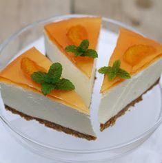 [kjøkkentjeneste]: Ostekake med gelélokk Cheesecake, Pudding Desserts, Nom Nom, Panna Cotta, Sweets, Cookies, Baking, Ethnic Recipes, Food