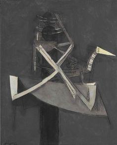 Wifredo Lam (Cuban, - Untitled (Personnage Avec Oiseau), oil on canvas, x cm Modern Art, Contemporary Art, Cuban Art, Abstract Painters, Oil On Canvas, Art Gallery, Sculptures, Drawings, Prints