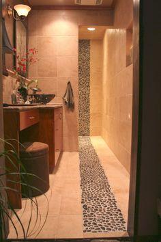 My bath....Black River Stone Bathroom