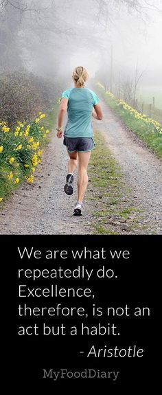 We are what we repeatedly do. Excellence, therefore, is not an act but a habit. -- Aristotle