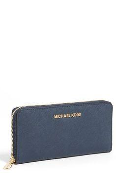 MICHAEL Michael Kors Jet Set Saffiano Zip Around Wallet available at #Nordstrom handbags, fashion bags
