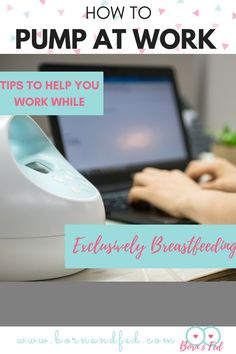 Breastfeeding Tips to help you exclusively breastfeed even after you return to work. When to start pumping, how much milk do you need, how to prepare, and how to bottle your breastfed baby. Part of a complete pumping series! When To Start Pumping, Pumping At Work, Stopping Breastfeeding, Breastfeeding And Pumping, Breastfeeding Accessories, Exclusive Breastfeeding, Work Pumps, Exclusively Pumping, Breastmilk Storage