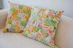 Cushions from vintage sheets