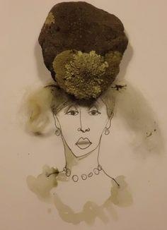 Very arrogant lady in a heavy hat.