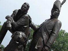 Statue of Lewis & Clark - St. Charles MO