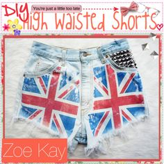 """""""DiY High Waisted Shorts♥"""" by the-tip-jarxx ❤ liked on Polyvore"""