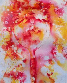 Rose red and gamboge brush