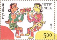 India Post - 2010 - ASTROLOGICAL SIGNS GEMINI, get a free psychic reading here http://www.astrologylove.net