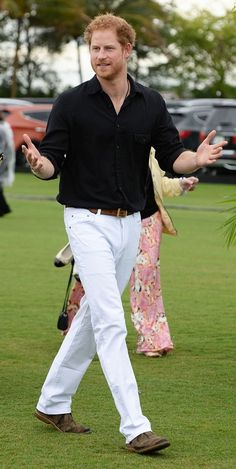 Thursday, May 5, 2016 Prince Harry Playing in the Sentebale Polo Cup in Florida