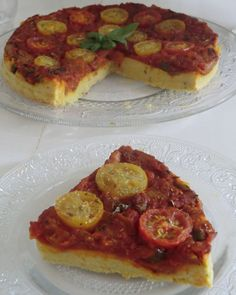 My little gourmet cuisine without gluten or lactose: Savory tart with tomato and chickpea flour without gluten and lactose faciles gourmet de cocina de postres faciles pasta saludables vegetarianas Fun Pizza Recipes, Healthy Dessert Recipes, Egg Recipes, Great Recipes, Vegetarian Recipes, Sausage Pizza Recipe, Brunch, Vegan Appetizers, Healthy Cooking