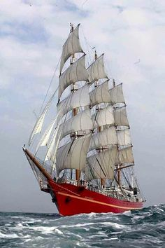 """Kerch, Russia, the sailing ship """"Khersones"""". In the ship rounded Cape horn under sail. Today training sailing vessel is under repair. Bateau Pirate, Old Sailing Ships, Wooden Ship, Yacht Boat, Sail Away, Submarines, Wooden Boats, Tall Ships, Water Crafts"""