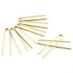"""6.3"""" BAMBOO Tongs by Smartyhadaparty.com."""