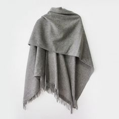 Redcurrent Grey Essential Wool Cape $175.00.