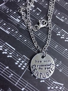 Fall Out Boy Centuries Hand Stamped Necklace $10