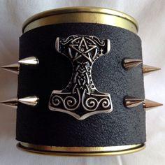 New! Thor's hammer leather bracelet