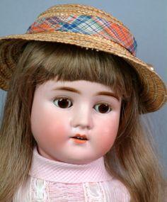 "Darling 23"" Heubach Koppelsdorf 250 Antique German Doll Pretty in Pink Must C | eBay"