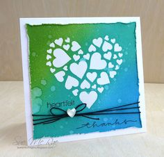 Stenciled Heart by Stampin Sue, via Flickr