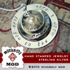 Hand Stamped Jewelry  Personalized Necklace by wickedlymodpendants, $96.00