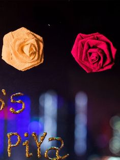 Wedding decor Multicoloured paper rose - online in india