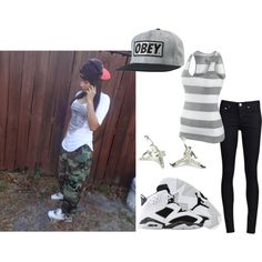 """Jordan Swag( My Lil Sis) @mariahbass33"" by mrsx-abrew-mindlessly-taken on Polyvore"