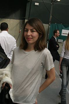 Sofia Coppola backstage at Helmut Lang S/S 2005