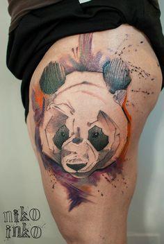 #tattoofriday - Niko Inko (França) une diversos estilos e técnicas para criar tatuagens incríveis; #apogeudoabismo